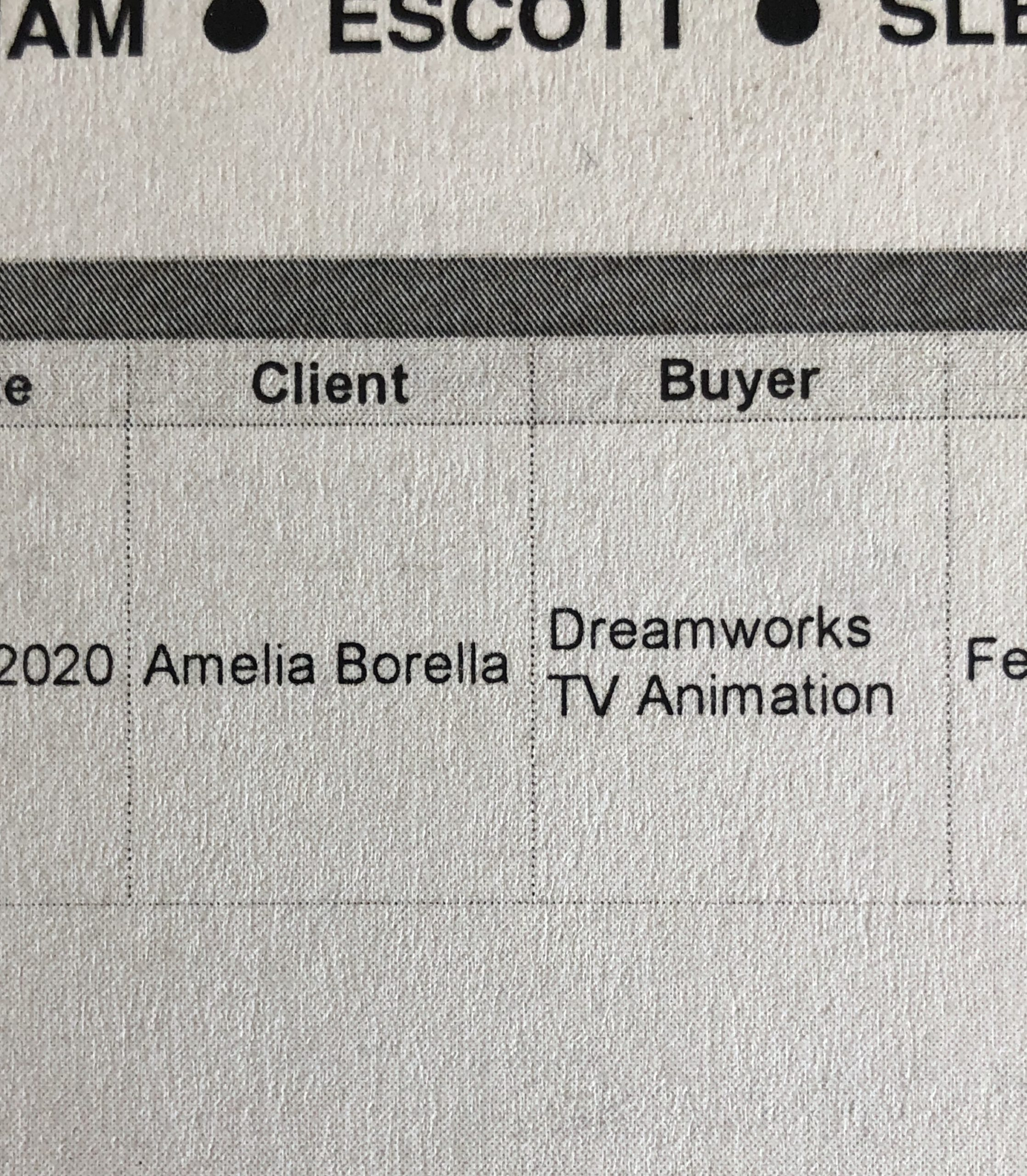 Voiced a role in a Dreamwork's show